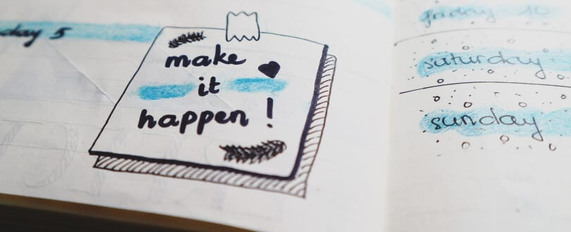 "An image that says ""make it happen!""."