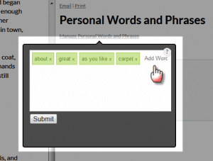 manage personal words 2
