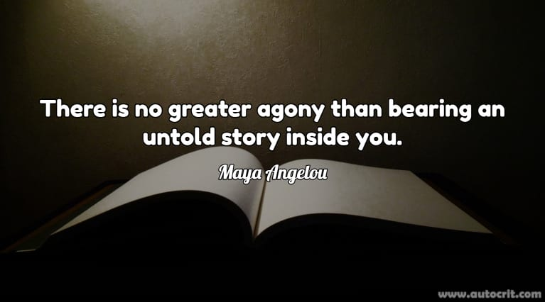Quotes about Writing - Maya Angelou