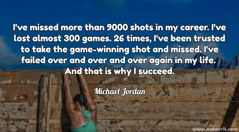 Quotes about Writing - Michael Jordan
