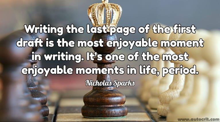 Quotes about Writing - Nicholas Sparks