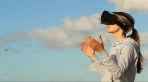 Person with VR goggles - what is second person point of view