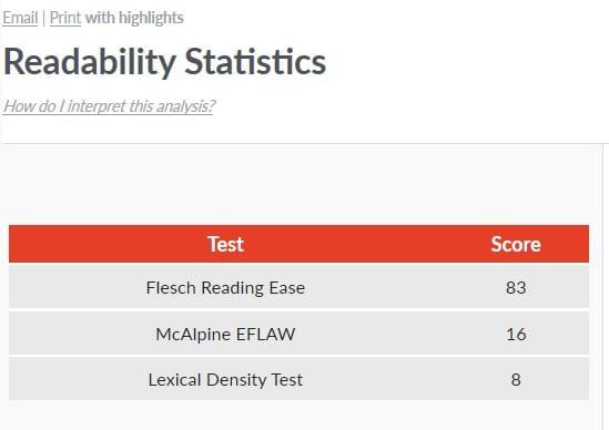 Hunger Games Flesch Reading Ease Score