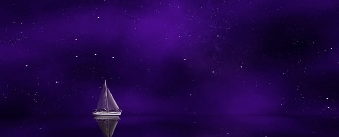 A purple boat in a purple world for purple prose