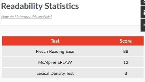 The Next Always - AutoCrit Breakdown - Readability