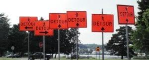 Detour signs - Writing Subplots