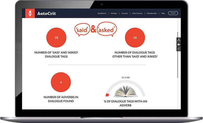 Online Book Editor for Fiction Writers - AutoCrit Book Writing Software