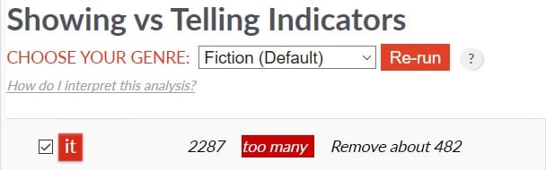 "Manuscript ""It"" reading - Default Fiction Setting"