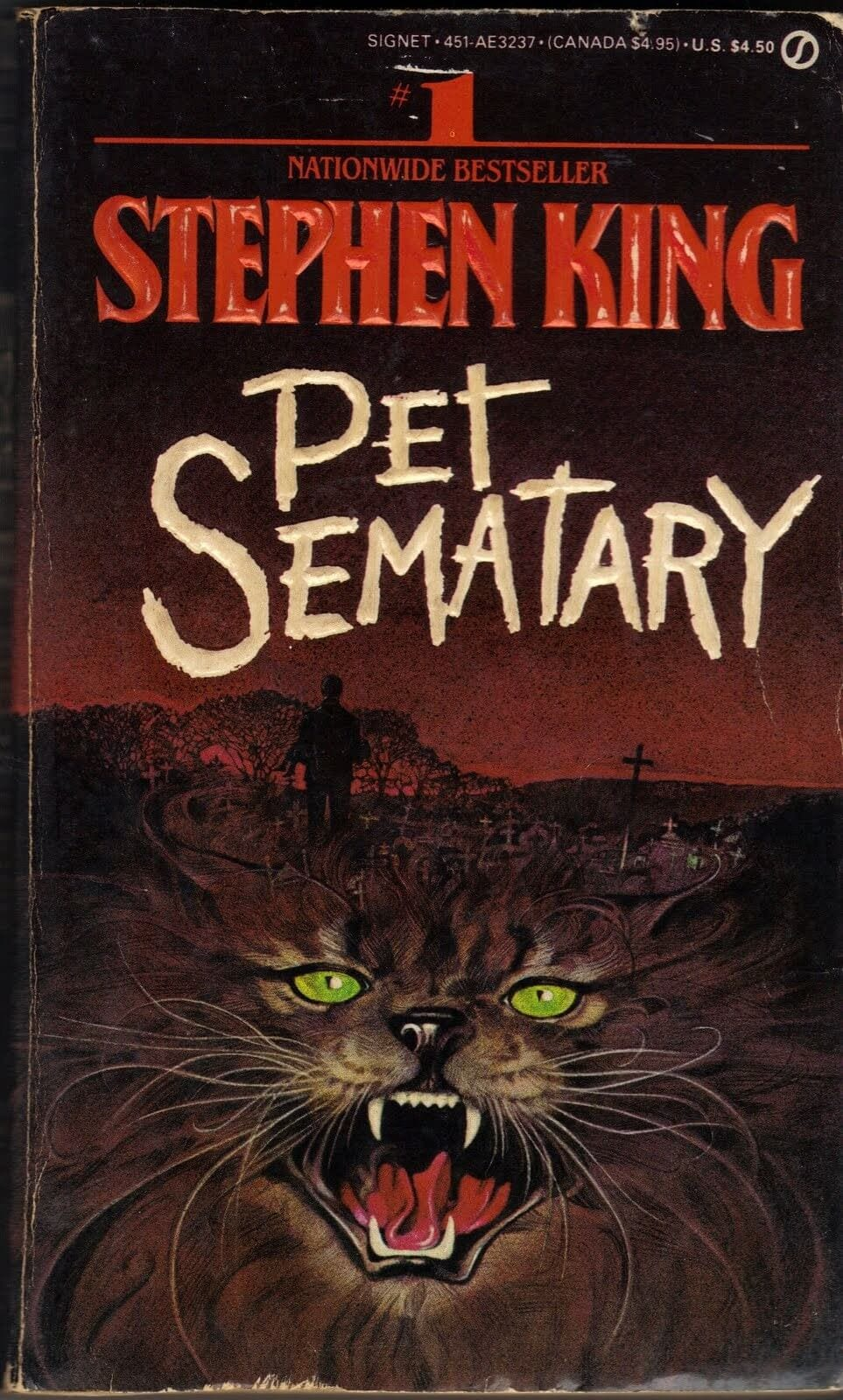 Pet Sematary by Stephen King - Paperback book cover