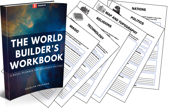 AutoCrit - The World-Builder's Workbook Cover and Page Spread